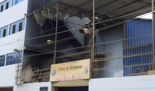 VIDEO: incendio afectó sede de iglesia evangélica en SJL