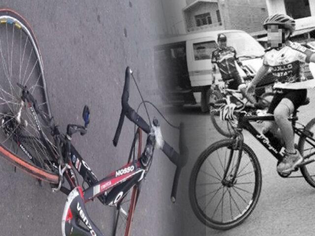 Trujillo: niño ciclista de 12 años muere arrollado por taxi colectivo