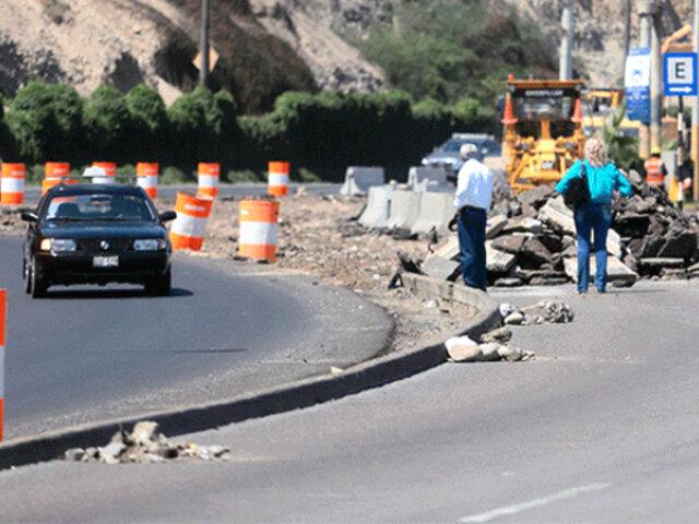 Costa Verde: desde hoy se cerrará un tramo por obras de ampliación