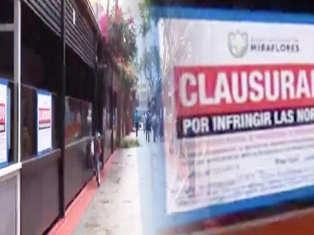 Calle de Las Pizzas: inician retiro de restaurantes instalados en la vía pública