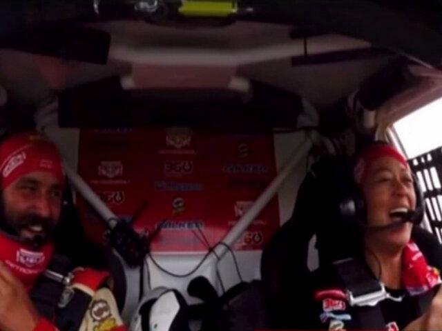 "Dakar 2019: Fernanda Kanno canta ""Bombón asesino"" mientras conduce en el rally"