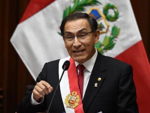 Datum: popularidad del presidente Martín Vizcarra alcanza 45%