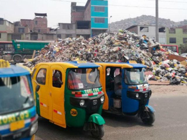 Acumulación de basura se agudiza en SJM