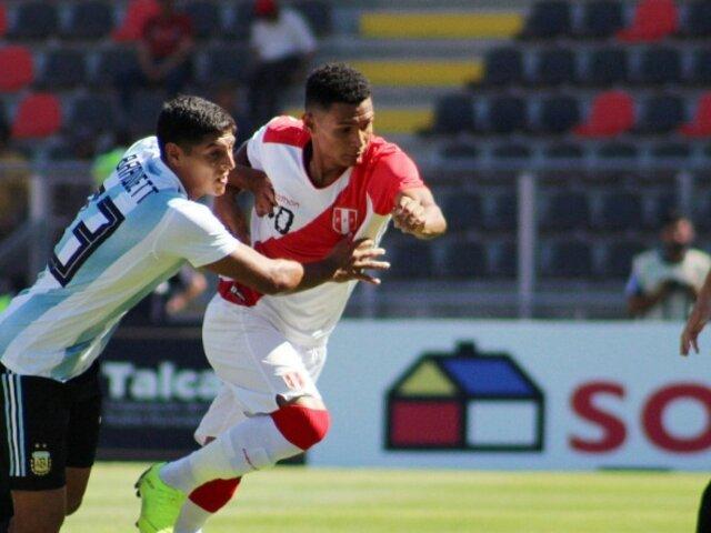 Sub 20: Perú queda eliminado del Sudamericano tras se derrotado 1-0 por Argentina