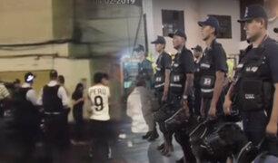 En megaoperativo capturan a extorsionadores y requisitoriados en el Cercado de Lima