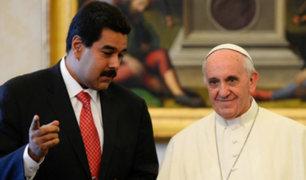Nicolás Maduro pide ayuda al papa Francisco para entablar diálogo con oposición