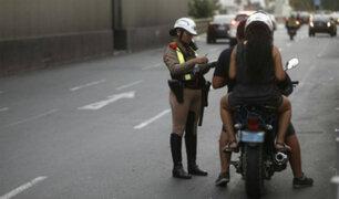 Miraflores prohibirá circulación de dos pasajeros en moto
