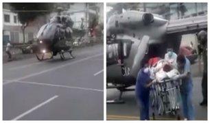 Jesús María: helicoptero aterrizó de emergencia en la av. Brasil para transportar herido