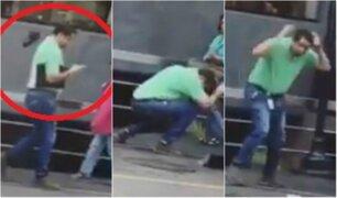 Ave ataca a hombres en exteriores de un hotel de Miraflores