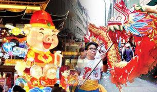 Así se le dan la bienvenida al Año del Cerdo en la Calle Capón