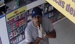 SMP: cámaras de seguridad captaron rostro de sujeto que asaltó farmacia