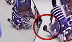 Chota: motociclista choca y queda inconsciente por no usar casco de seguridad