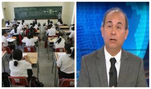 ¿Es legal el incremento en pensiones de colegios particulares?, Crisólogo Cáceres despeja dudas
