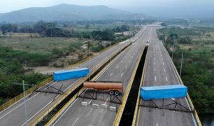 Miembros del Ejército de Venezuela  bloquean el ingreso de ayuda humanitaria
