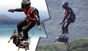 Flyboard Air: la tabla que permite al hombre volar como un superhéroe