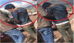 Cusco: hombre camina con cuchillo clavado en espalda después de una gresca