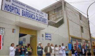 Barranca: hospital seriamente afectado por intensas lluvias