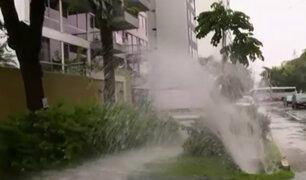 San Isidro: tubería de agua potable estalla y afecta viviendas cerca a av. Javier Prado