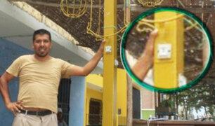 Chimbote: crean primer poste público que carga celulares con energía solar