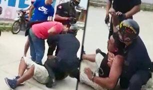 Tumbes: familiares de sujeto que era detenido agreden a policías