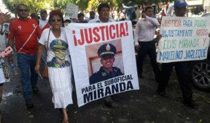 Piura: cientos marcharon para exigir libertad de suboficial Elvis Miranda