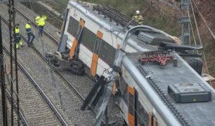 España: choque de trenes deja un muerto y 95 heridos en Barcelona