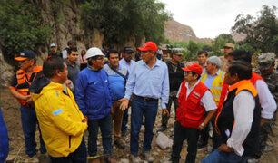 Presidente Vizcarra recorrió Tacna e inspeccionó zonas afectadas por huaicos