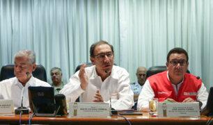 Presidente Vizcarra: cada ministro se encargará de una región afectada por las lluvias