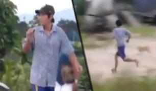 Tocache: ladrón escapa tras ser sorprendido robando un saco de maíz