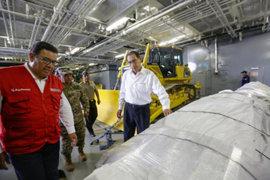 Envían 500 toneladas de ayuda humanitaria para afectados por huaicos