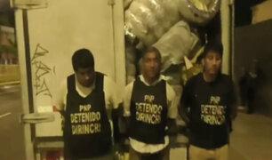 Recuperan camión con neumáticos robado en almacén de San Luis