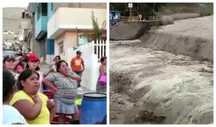 Moquegua: más de 70 mil personas sin agua potable por crecida de río Osmore