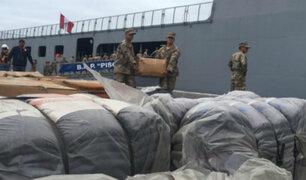Ilo: BAP Pisco llegó con 500 toneladas de ayuda para damnificados por huaicos