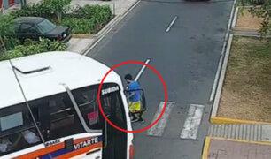 Joven autista fue atropellado por custer en calle de Jesús María