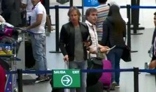 Ricardo Gareca viajó para visitar a seleccionados nacionales