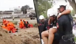 Tumbes: realizan simulacros de rescate ante desastres naturales