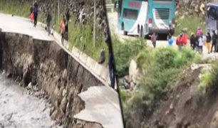Crecida de los ríos Huari y Mosna arrasan vías y aíslan once distritos