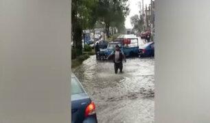 Torrencial lluvia afectó varios distritos de la ciudad de Arequipa