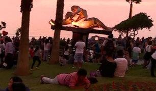 Día de San Valentín: enamorados celebraron en el Parque del Amor
