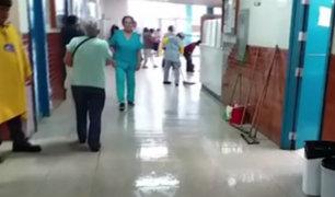 Chiclayo: hospital de EsSalud quedó inundado tras intensa lluvia de más de 8 horas