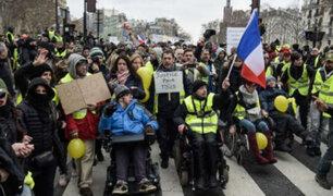 Francia: fin de semana violento por protestas de chalecos amarillos