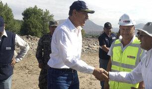 Moquegua: presidente Vizcarra supervisa instalación de nuevo puente