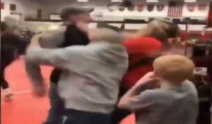 EEUU: padres se pelean en pleno torneo infantil de lucha libre