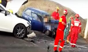 Barranca: accidente automovilístico en la Panamericana Norte deja un muerto