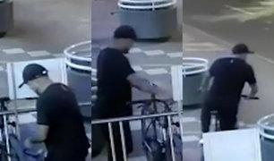 Miraflores: captan a sujeto robando bicicleta en avenida Benavides