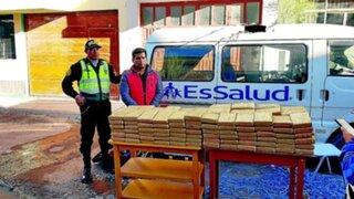 PNP halló 167 kilos de droga dentro de falsa ambulancia de EsSalud
