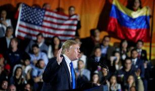 """Trump a militares venezolanos: deben elegir entre """"amnistía"""" o """"perderlo todo"""""""