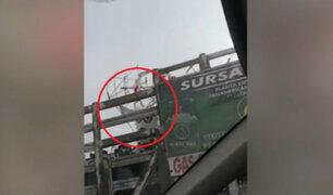 Transportan balones de gas junto a pirotécnico en la Panamericana Sur