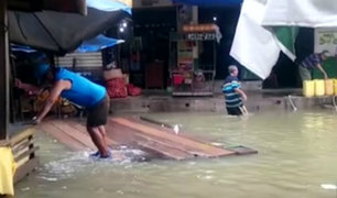 Lluvia por más de cinco horas provocó pánico en Tumbes
