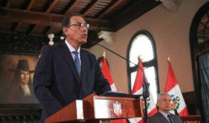 """Presidente Vizcarra: """"No nos van a doblegar en la lucha contra la corrupción"""""""